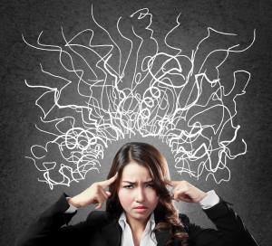 Kvinde med negative tanker