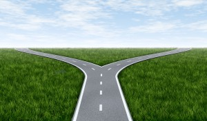 dilemmas - road that divides in two